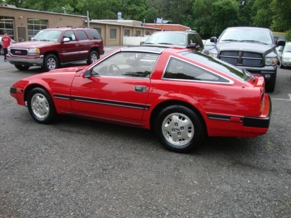 Red 1987 Nissan 300ZX We have this model in our shop right