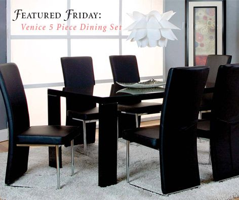 Create a whole new look with the Venice 5-Piece Dining Set ...