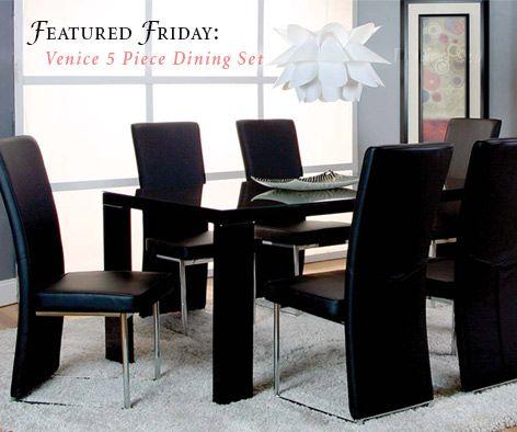 Featured Furniture Venice 5 Piece Dining Set 5 Piece Dining Set