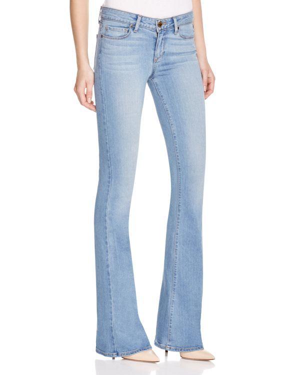 Paige Denim Lou Lou Petite Flare Jeans in Abel