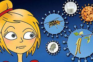 """""""Lange Nacht der Allergie"""": Am 3. September können sich Betroffene sowie Ärtzte ab 16.30 Uhr bis 24 Uhr über Allergien informieren und sich mit Experten und Selbsthilfegruppen austauschen. Hörsäle der Medizin, Ulmenweg 18. Der Eintritt ist frei. (Grafik: Unklinik Erlangen)"""