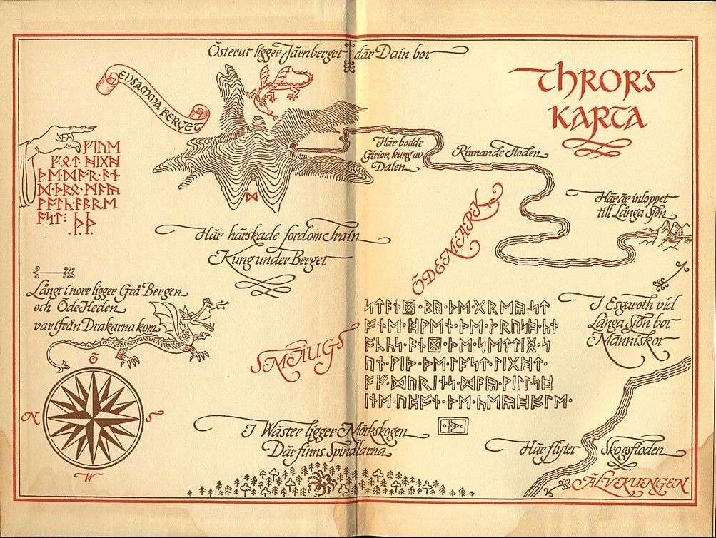 maps from the hobbit