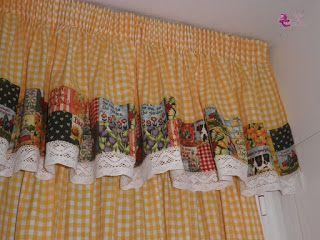 cortinas country para la cocina
