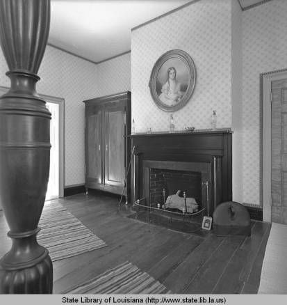 Interior View Of Shadows On The Teche Plantation Home In New Iberia  Louisiana In 1961 :