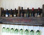 Rustic Wine Rack Reclaimed Wood Handmade. $59.00, via Etsy..