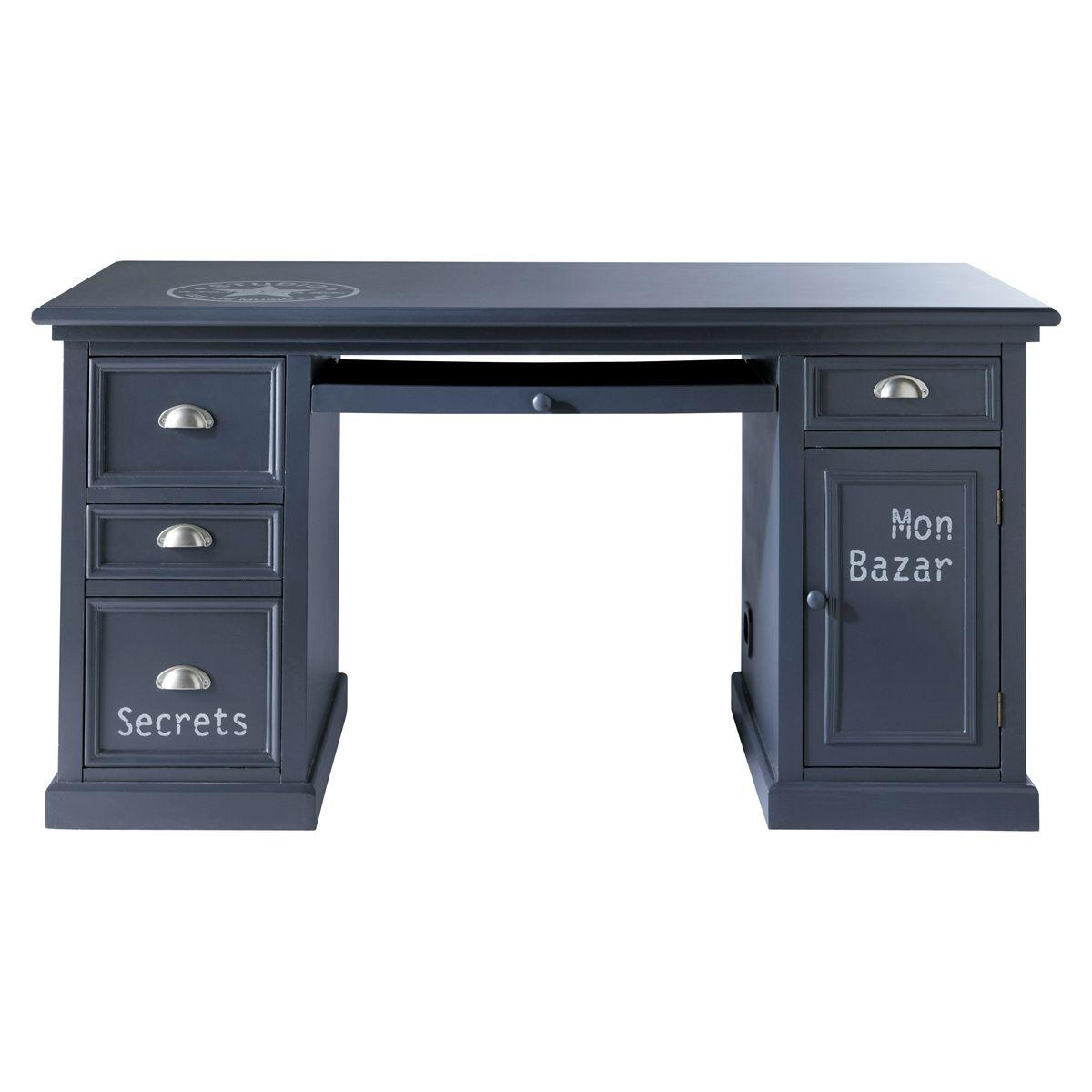 Bureau gris L 150 cm | Gray desk, Newport and Bureaus