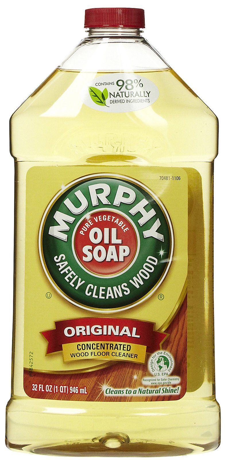 Cleaning Tip For Baseboards 1 cap of Murphy's Oil 1