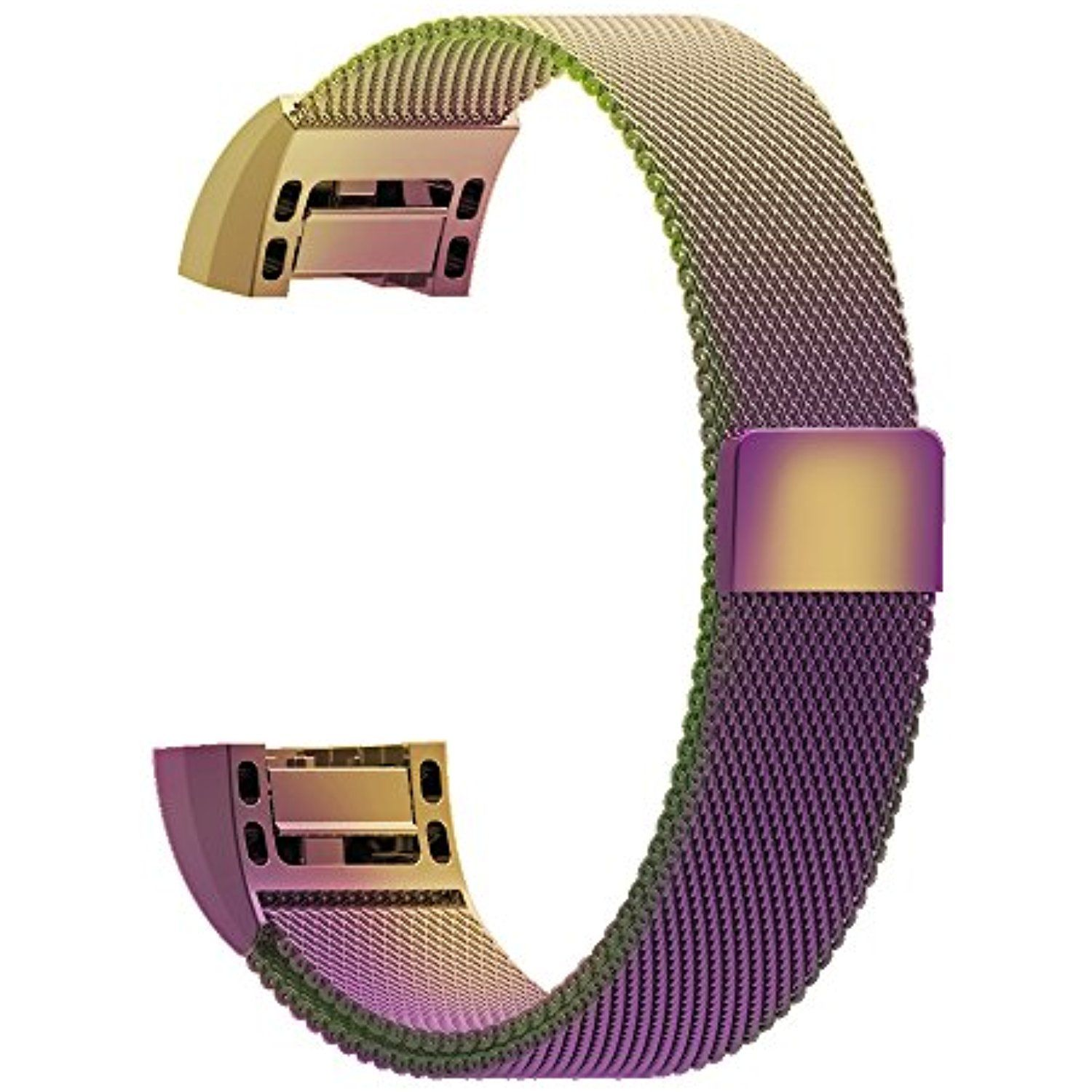 Milanese Loop Band for Fitbit Charge 2- Small- Rainbow