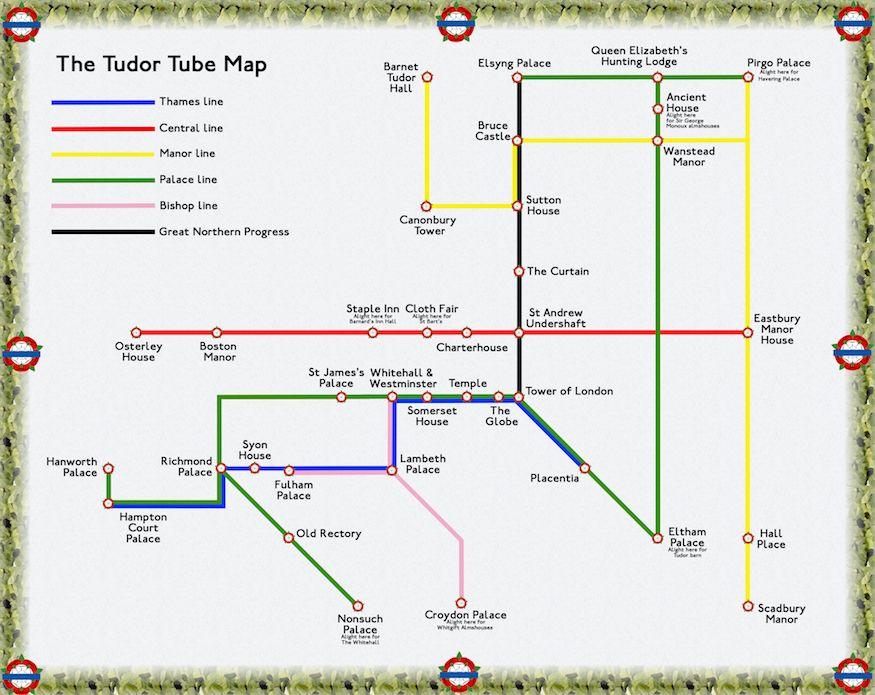 Map Of England Underground.The Tudor London Tube Map Londonist Londinium London Tube Map
