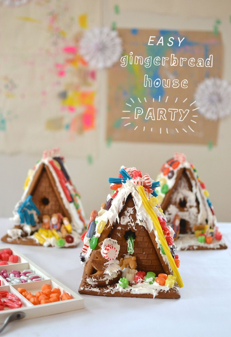 Easiest Gingerbread House Party Ever Art Bar Blog