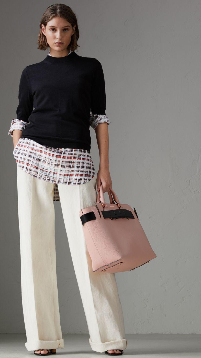 f7952c294b15 The Medium Leather Belt Bag in Pale Ash Rose - Women