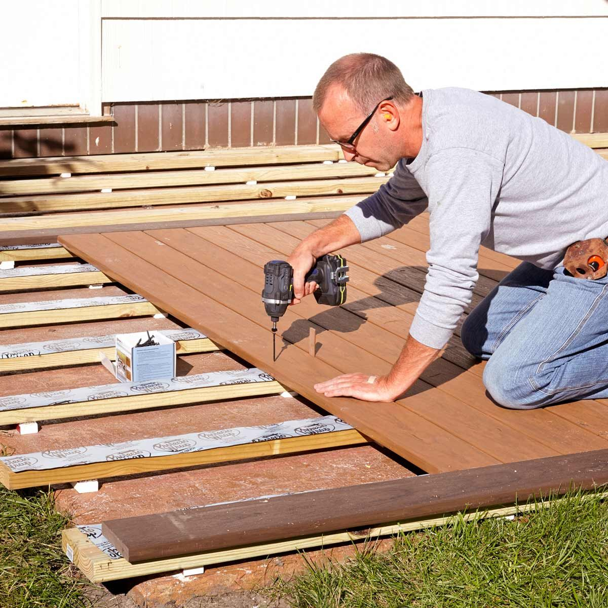 How to Build a Deck Over a Concrete Patio (With images