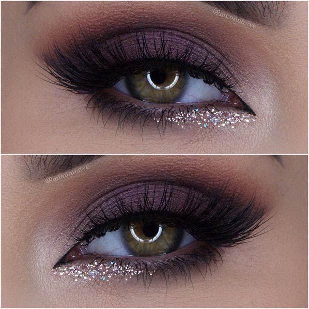 Purple Smokey Glam Makeup Look Prefect