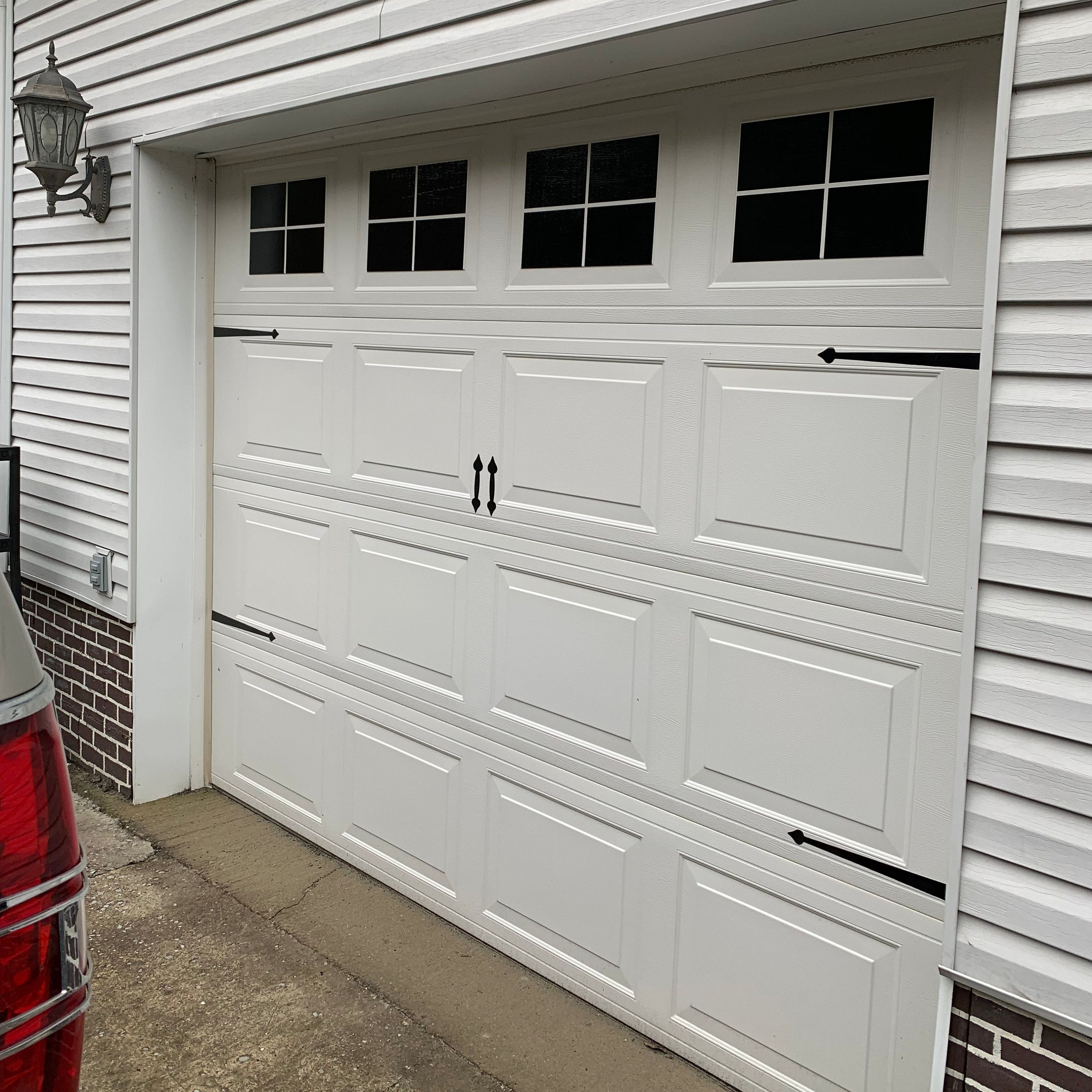 Vinyl Faux Carriage Garage Door Etsy Garage Doors Carriage Garage Doors Garage Door Design