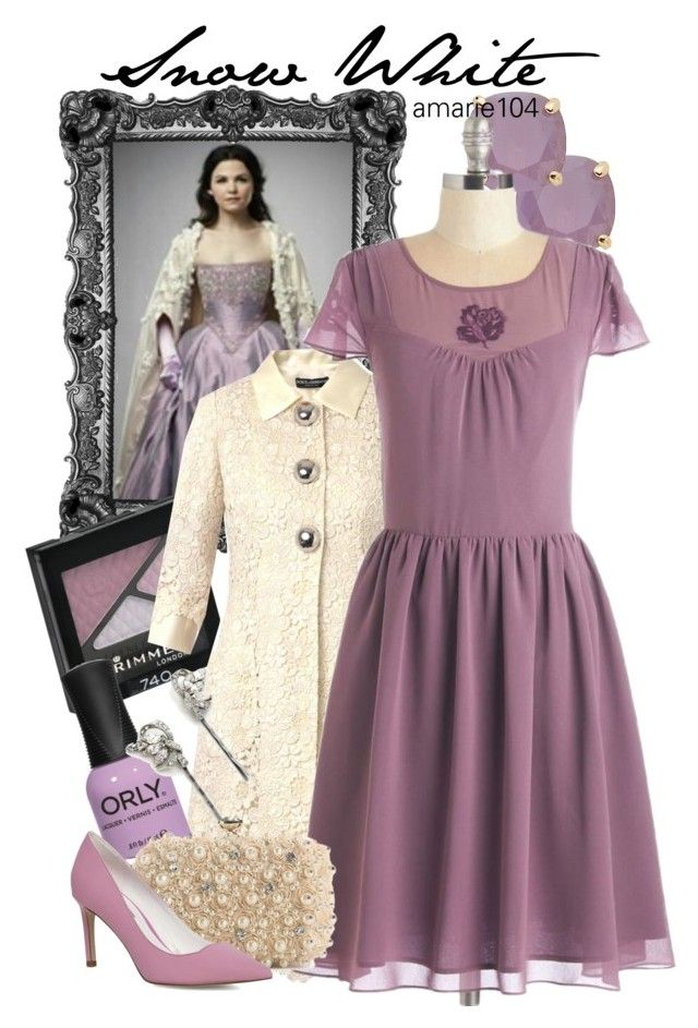 """Snow White (OUAT)"" by amarie104 ❤ liked on Polyvore featuring Once Upon a Time, Rimmel, Kate Spade, Dolce&Gabbana, ORLY, Ben-Amun, Lulu Townsend and Dorothy Perkins"