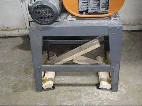 Lever Action Mobile Bandsaw Base Bandsaw Woodworking Shop Layout Homemade Mobile
