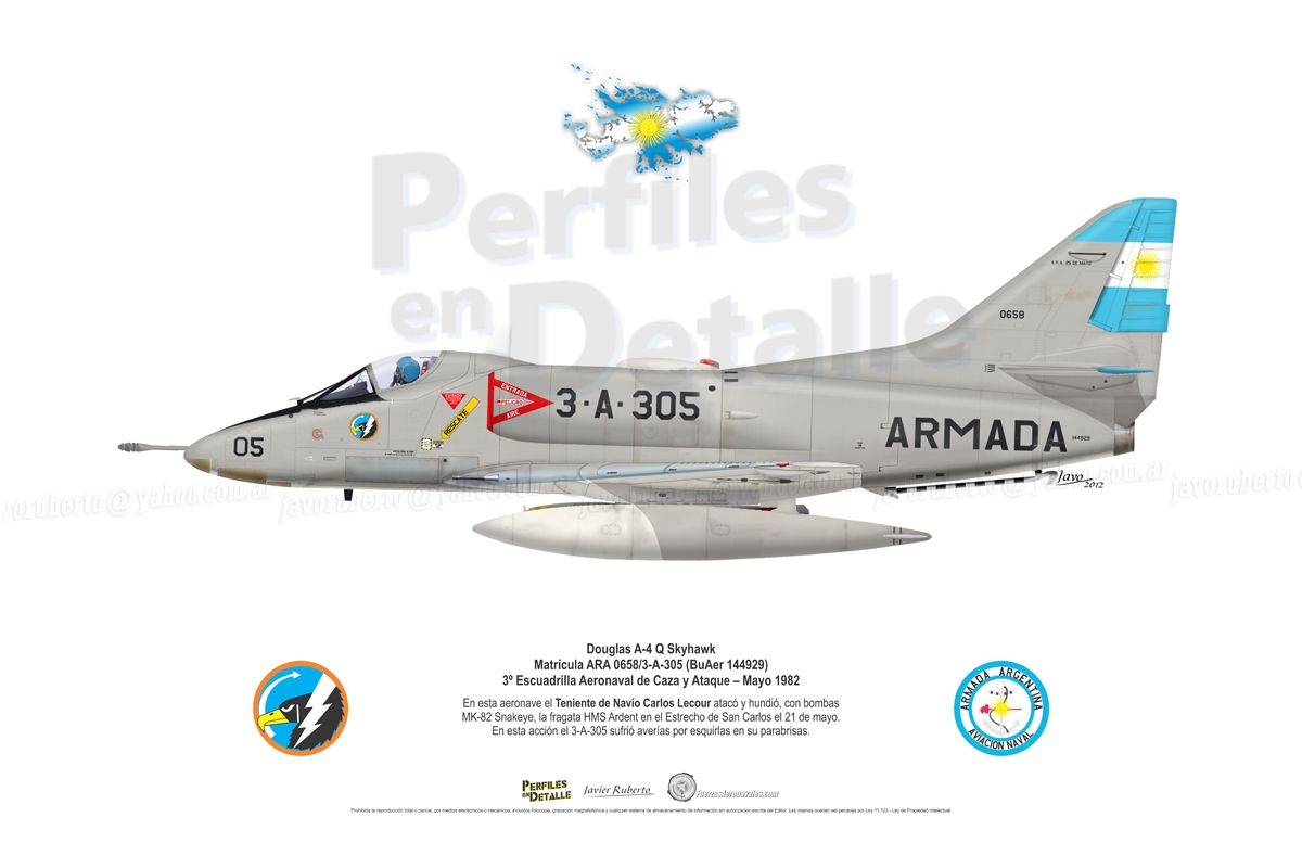 Douglas A-4 Q Skyhawk Matrícula ARA 0658/3-A-305 (BuAer 144929) 3º ...