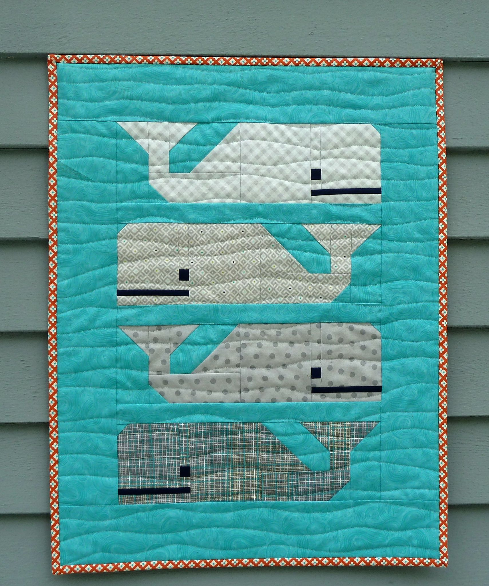 preppy the whale mini quilt joli pinterest couture couture enfant et art textile. Black Bedroom Furniture Sets. Home Design Ideas