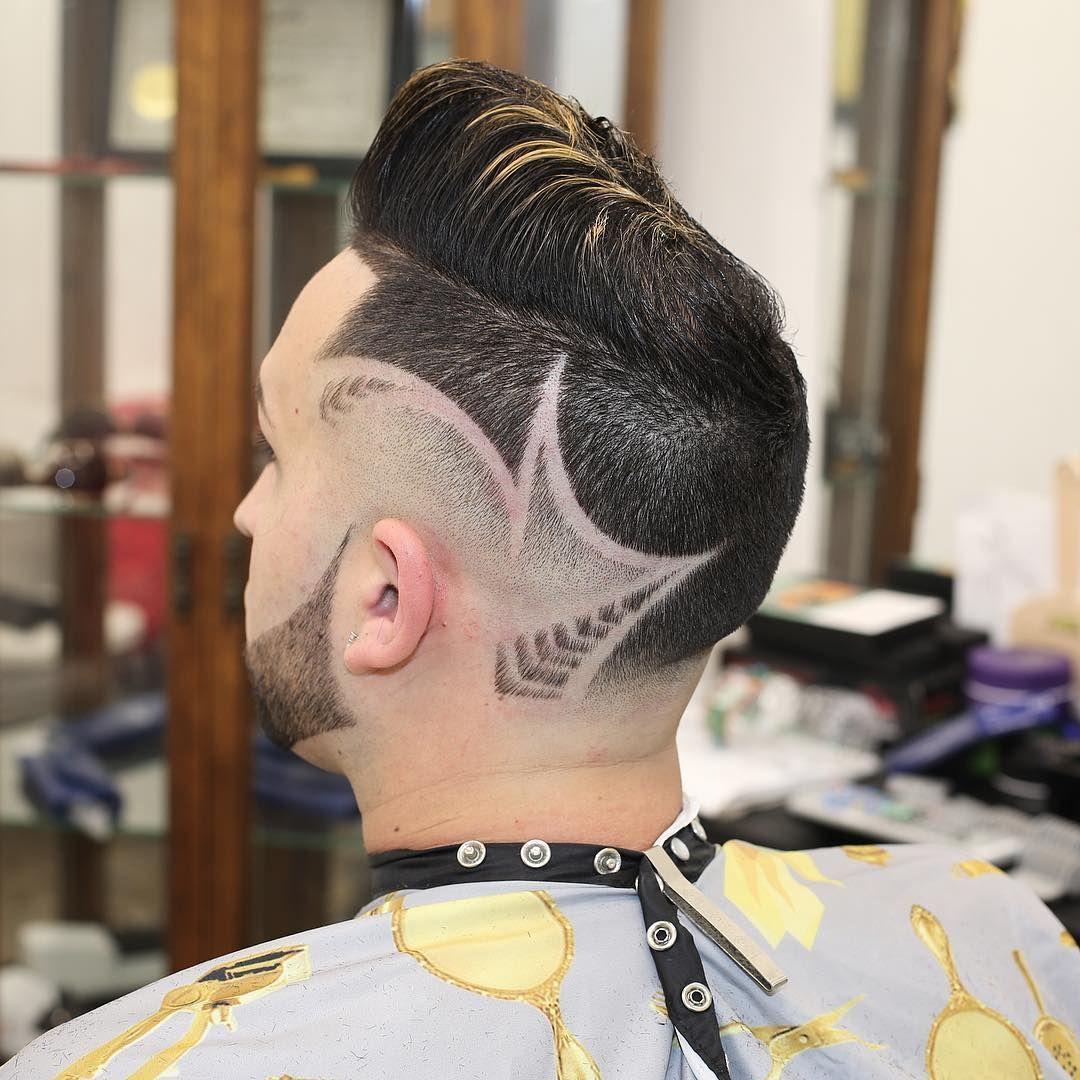 new men's hair trends: neckline hair design | neckline hair designs