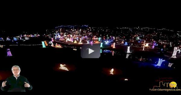rhema christmas lights drone footage in tulsa oklahoma very beautiful - Christmas Lights Tulsa
