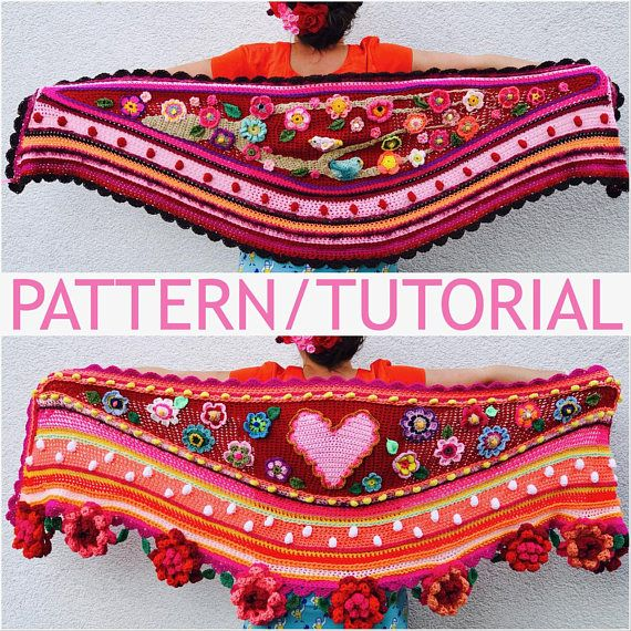 UK/USA Tutorial/Pattern how to design and crochet a #polleviewrap ...