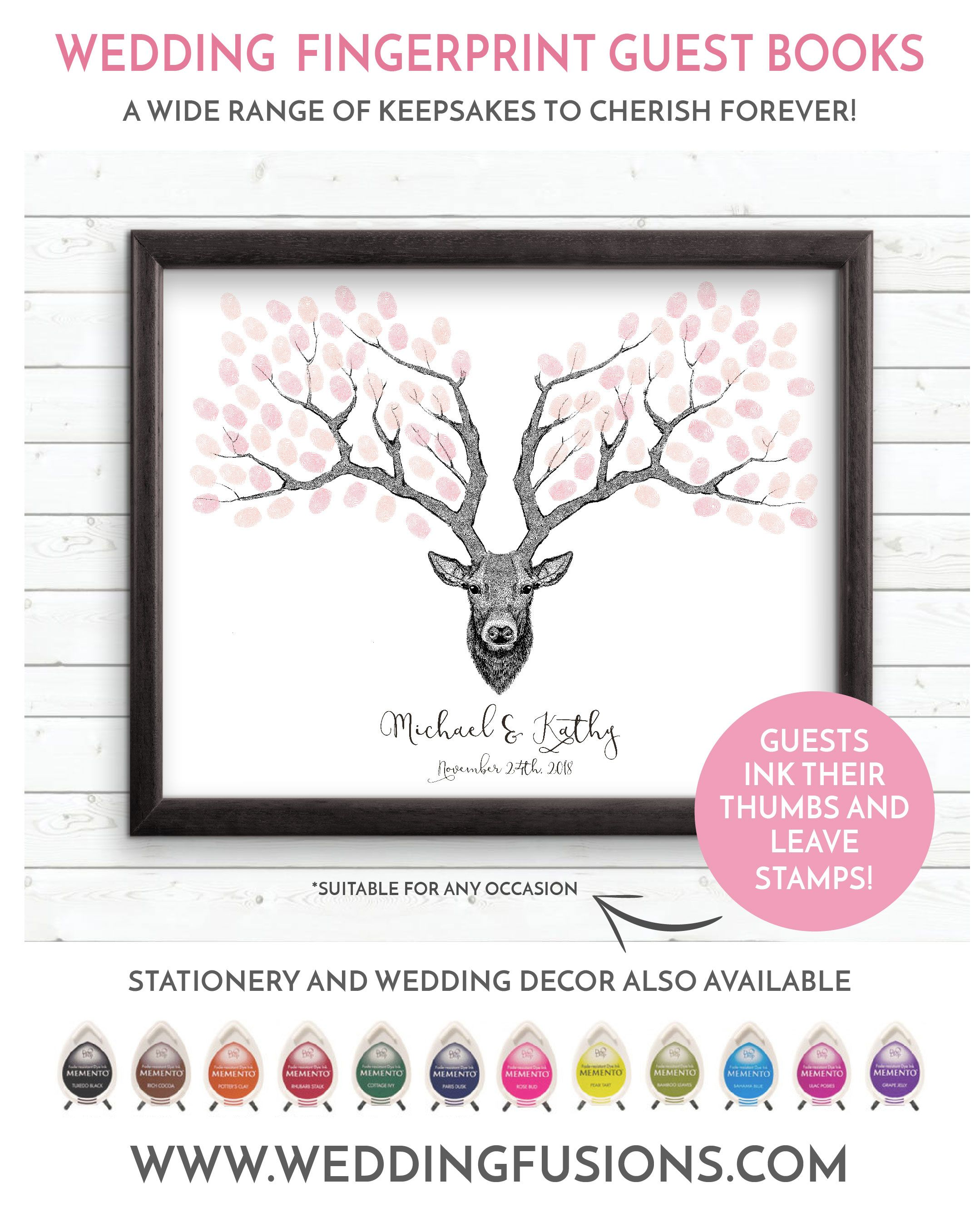 Deer wedding tree, a deer head / stag wedding guestbook is the ...