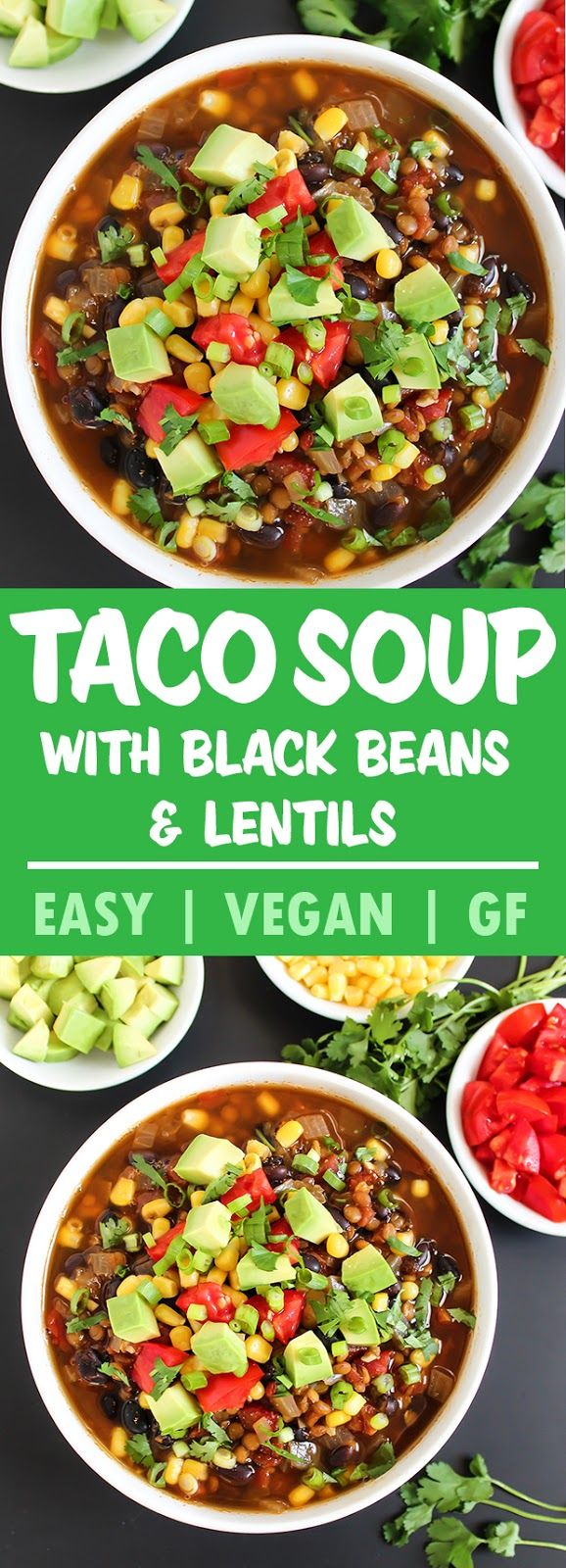 Black Bean Lentil Taco Soup (Vegan) | The Garden Grazer