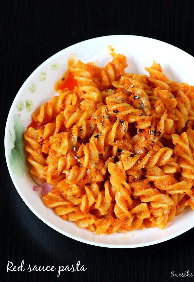 Red Sauce Pasta Recipe Pasta Indian Style Recipe Red Sauce