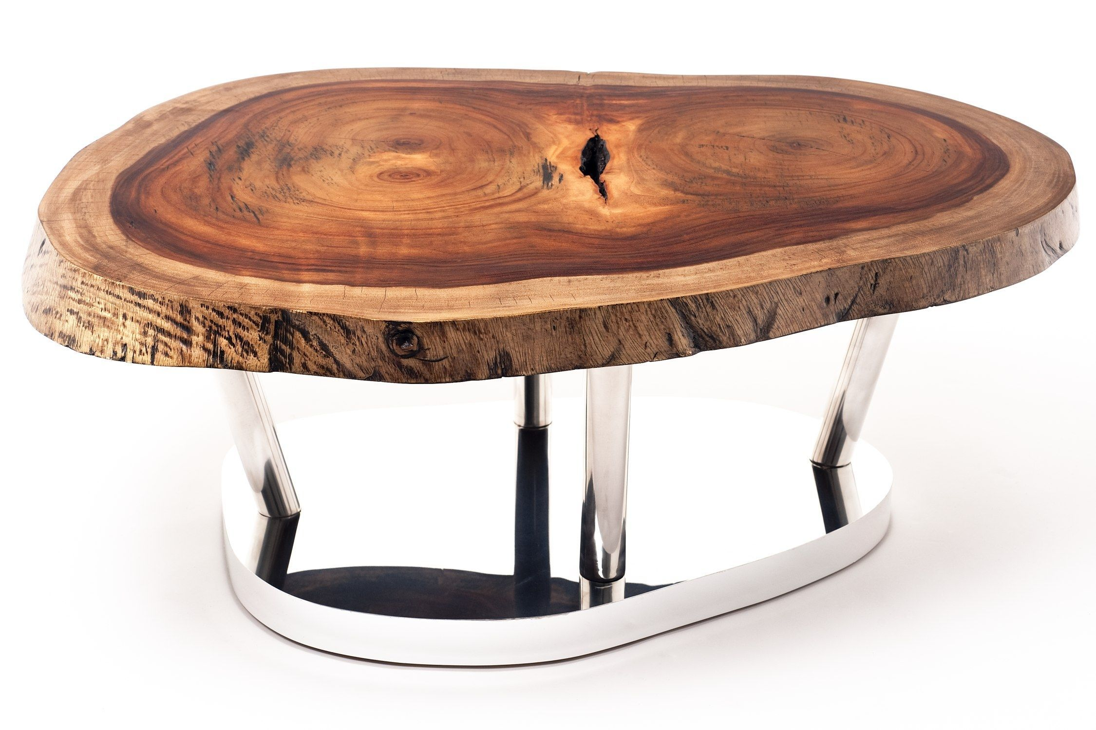 Pequi Round Wood Slab Coffee Table