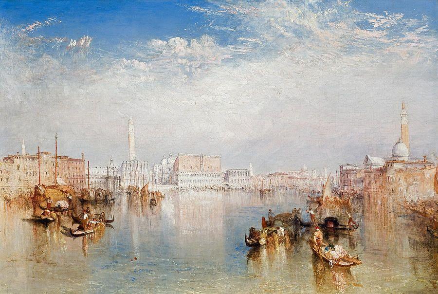 Venice San Guirgio From The Dogana Sunrise By Joseph William