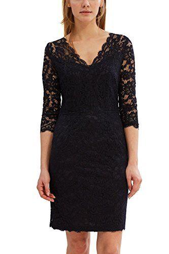 Esprit Collection Damen 027eo1e043 Kleid Blau Navy 400 40 Mit Bildern Kleider Damen Formelle Kleider