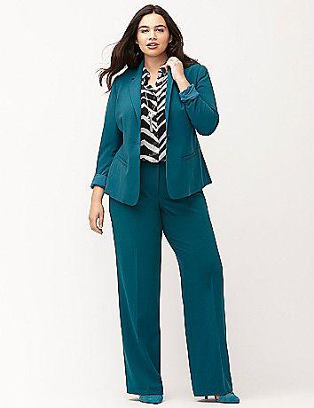 f4ba2dd8b9f46 Plus size suit jacket blazer. Tailored Stretch suit jacket by Lane Bryant