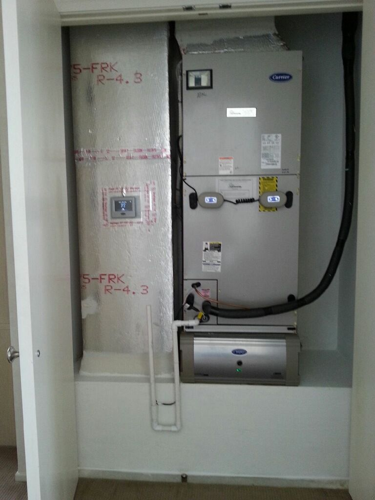 Carrier Infinity Variable Speed Air Handler With New Ducted Return Carrier Dual Bulb Uv Light And Carrier Infinity Air Purifier Air Handler Air Purifier Bulb