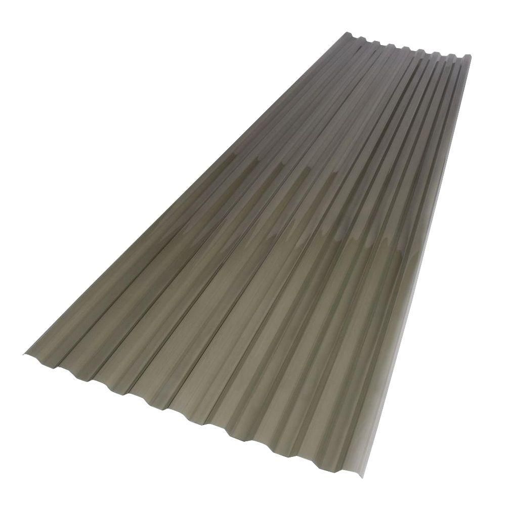 Suntuf 26 In X 6 Ft Solar Grey Polycarbonate Roof Panel 158912 The Home Depot Roof Panels Fibreglass Roof Polycarbonate Roof Panels