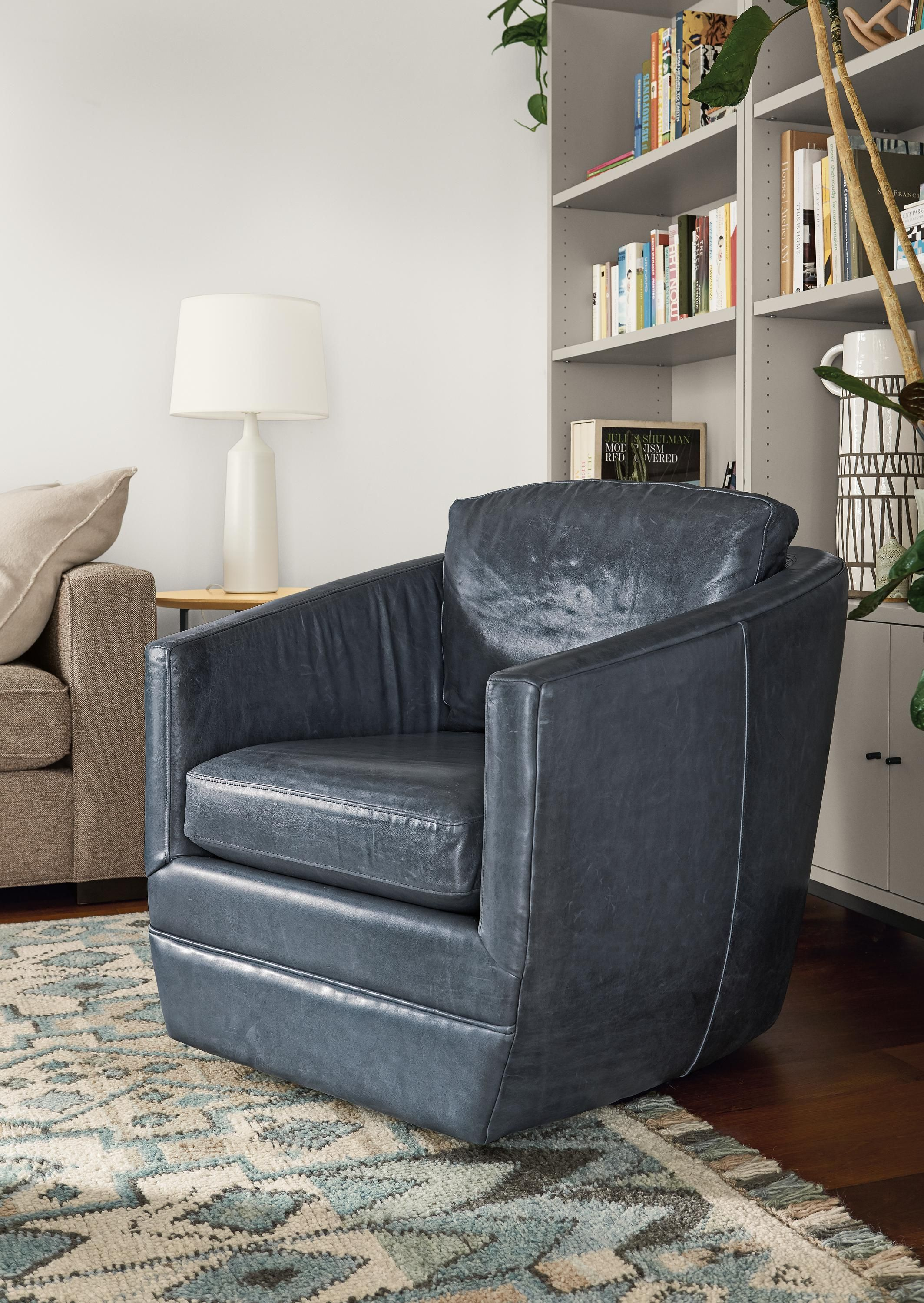 Ford Leather Swivel Chair