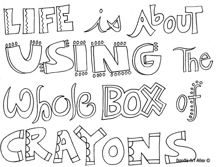printable quote coloring pages coloring panda - Full Page Coloring Sheets