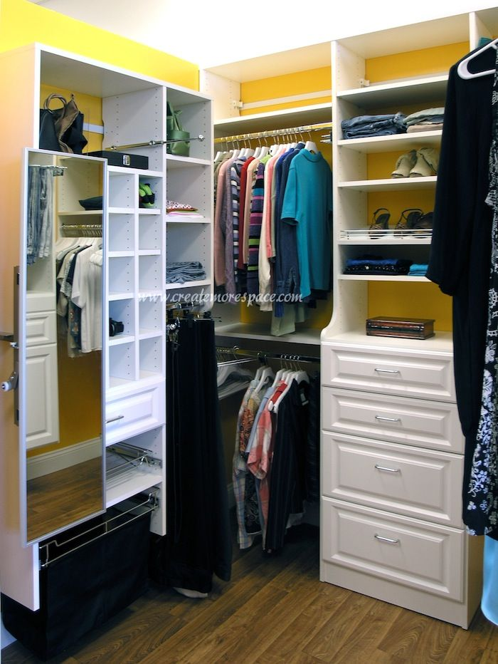 Custom Closet with pullout mirror Create More Space