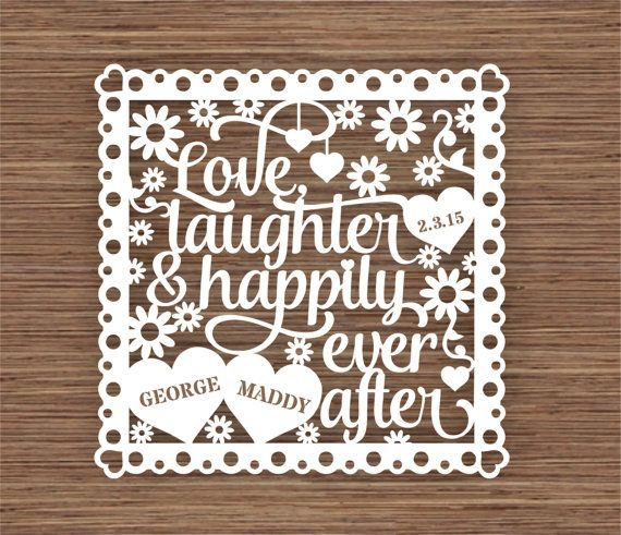 Download Love, Laughter and Happily Ever After PDF SVG (Commercial ...