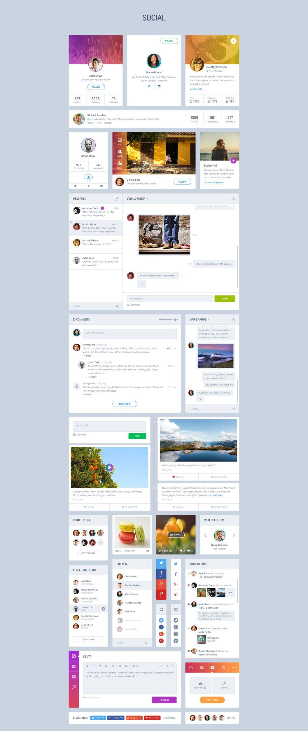 Pin by xi Rui on design-UI | Ui kit, Web design examples, User