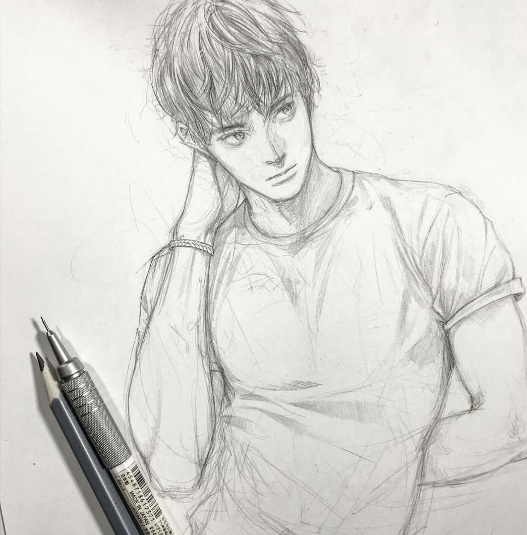 Pin By Ruby On Guys Anime Drawings Boy Anime Drawings Sketches Pencil Art Drawings
