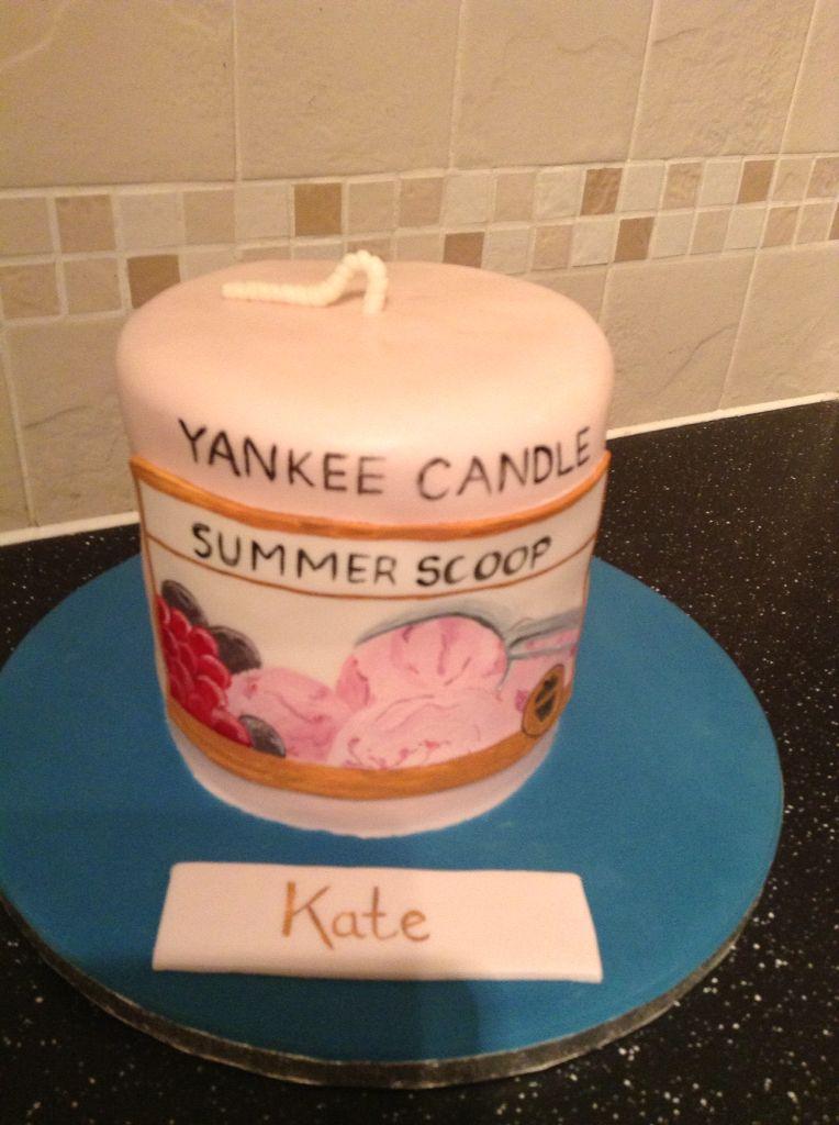 Summer Scoop Yankee Candle Sponge Cake CakeNovelty CakesYankee CandlesBirthday CakeBirthdays