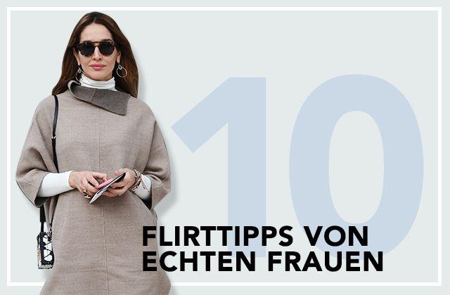 Frau flirtet standig