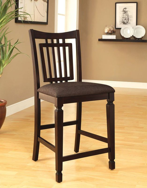 Furniture Of America IDF 3620PC Espresso Counter Height Dining Chair (set  Of 2)