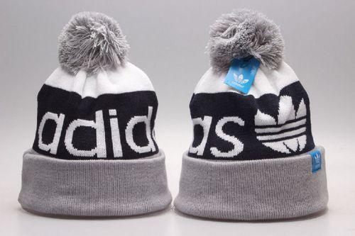 2a8a33ac5bb Adidas Winter Outdoor Sports Warm Knit Beanie Hat Pom Pom