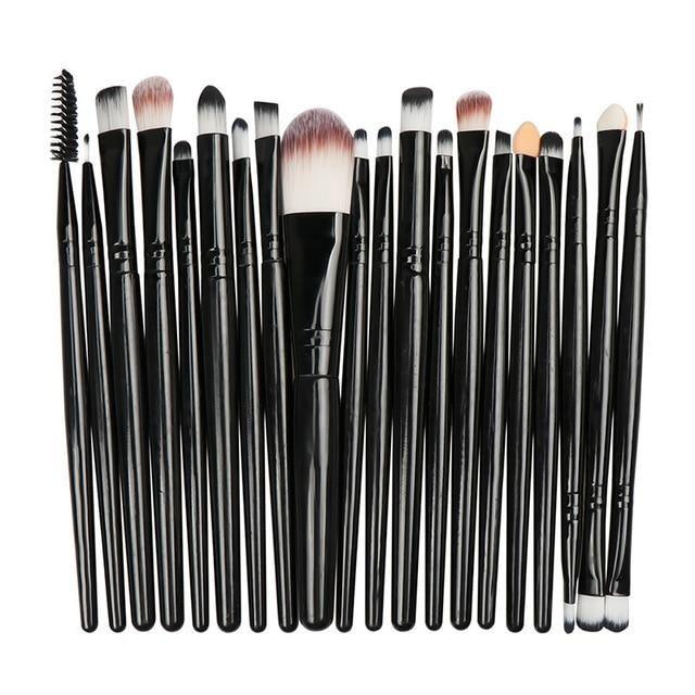 Photo of La Milee 20/5Pcs Makeup Brushes Set Eye Shadow Foundation Powder Eyeliner Eyelash Lip Make Up Brush Cosmetic Beauty Tool Kit Hot – shua-20-HH