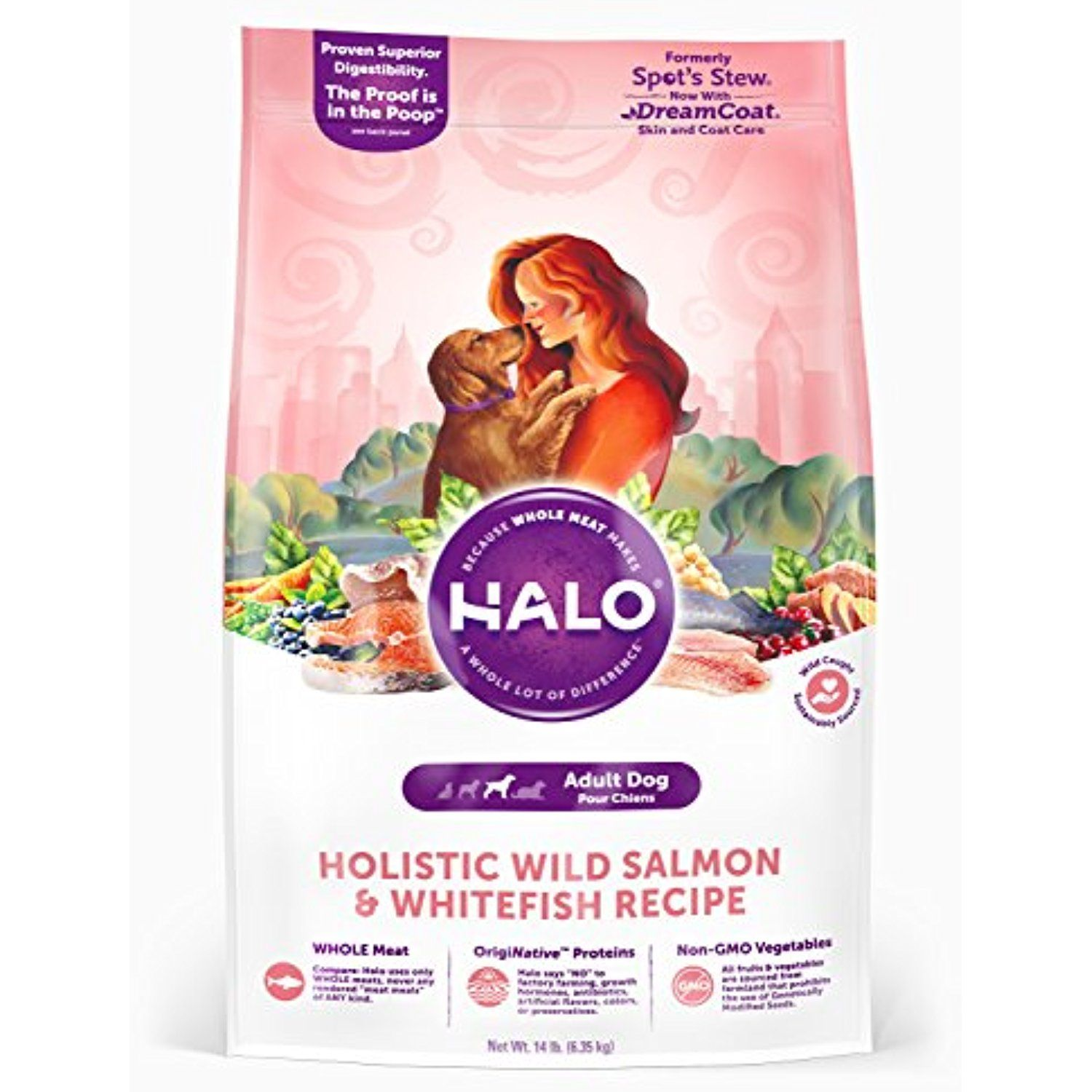 Halo purely for pets 38023 holistic wild salmon