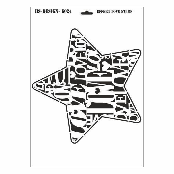 Schablone Din A3 Effekt Stencil Love Stern Weihnachten Sprüche