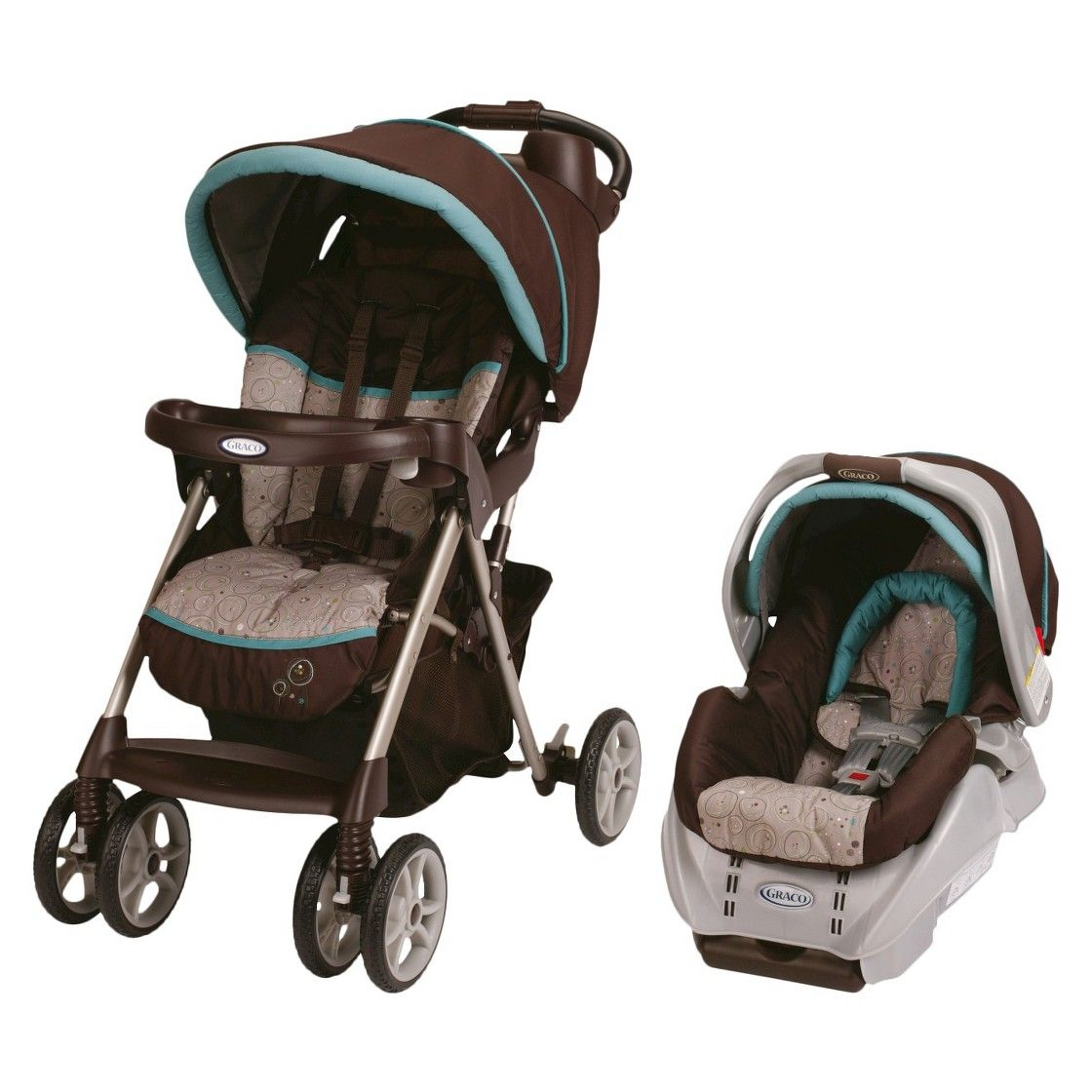 Graco Alano Classic Connect Travel System Scribbles