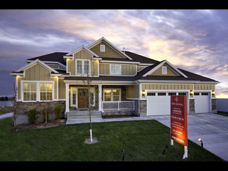 Hanover Traditional home design for new homes in Utah | Residential ...