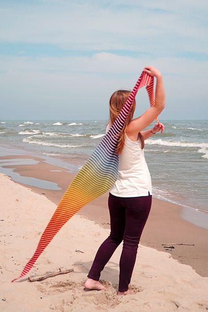 Danish Triangle Scarf Free Knitting Pattern Triangle Scarf